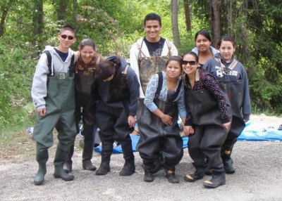 Students in Waders